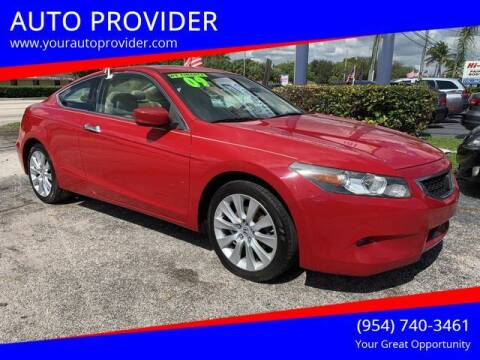 2009 Honda Accord for sale at AUTO PROVIDER in Fort Lauderdale FL