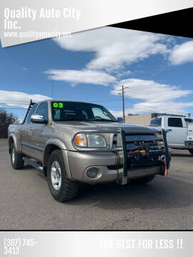 2003 Toyota Tundra for sale at Quality Auto City Inc. in Laramie WY