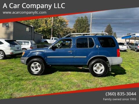 2001 Nissan Xterra for sale at A Car Company LLC in Washougal WA