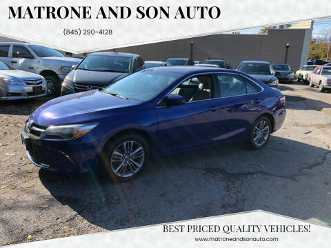 2016 Toyota Camry for sale at Matrone and Son Auto in Tallman NY