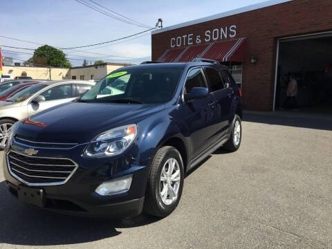 2016 Chevrolet Equinox for sale at Cote & Sons Automotive Ctr in Lawrence MA