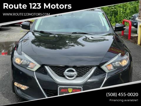 2017 Nissan Maxima for sale at Route 123 Motors in Norton MA