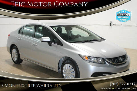 2015 Honda Civic for sale at Epic Motor Company in Chantilly VA