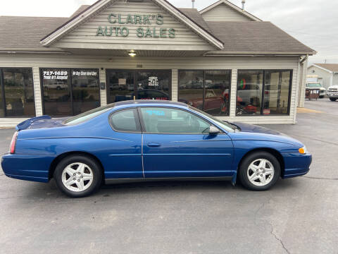 2004 Chevrolet Monte Carlo for sale at Clarks Auto Sales in Middletown OH