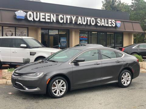 2015 Chrysler 200 for sale at Queen City Auto Sales in Charlotte NC