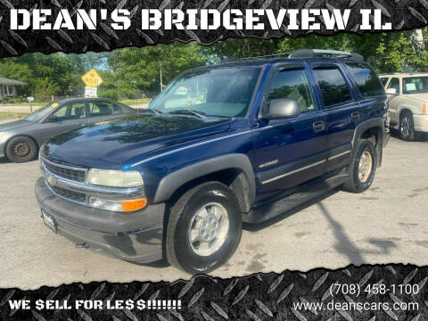 2002 Chevrolet Tahoe for sale at DEANSCARS.COM in Bridgeview IL