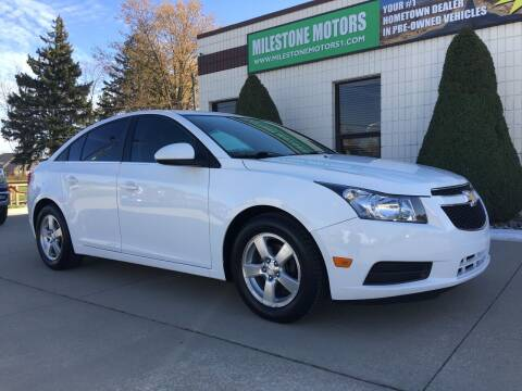2014 Chevrolet Cruze for sale at MILESTONE MOTORS in Chesterfield MI