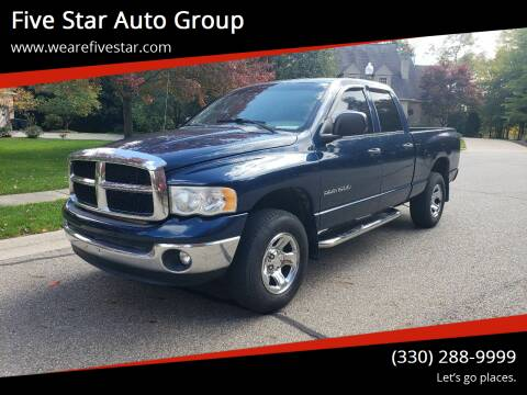 2004 Dodge Ram Pickup 1500 for sale at Five Star Auto Group in North Canton OH