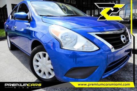 2016 Nissan Versa for sale at Premium Cars of Miami in Miami FL