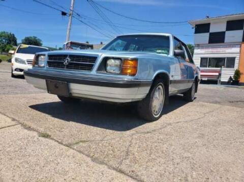 1987 Dodge Aries K for sale at BABO'S MOTORS INC in Johnstown PA