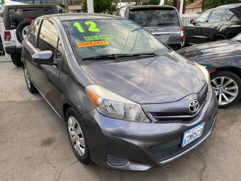 2012 Toyota Yaris for sale at CAR GENERATION CENTER, INC. in Los Angeles CA