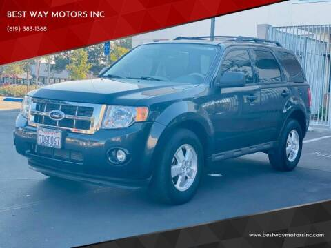 2009 Ford Escape for sale at BEST WAY MOTORS INC in San Diego CA