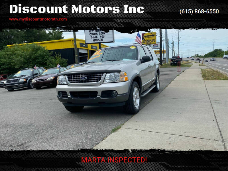 2003 Ford Explorer for sale at Discount Motors Inc in Madison TN