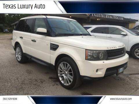 2010 Land Rover Range Rover Sport for sale at Texas Luxury Auto in Houston TX