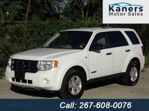 2008 Ford Escape Hybrid for sale at Kaners Motor Sales in Huntingdon Valley PA