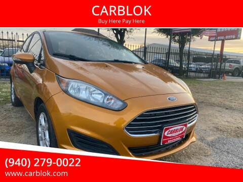 2016 Ford Fiesta for sale at CARBLOK in Lewisville TX
