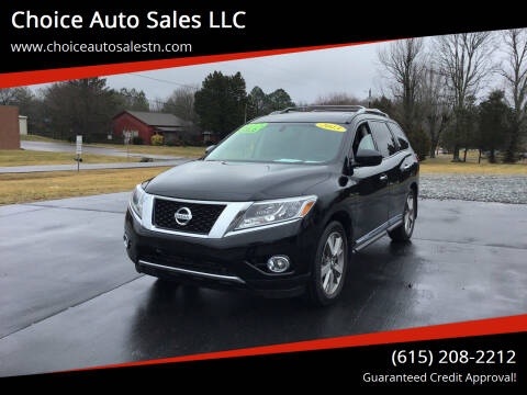 2013 Nissan Pathfinder for sale at Choice Auto Sales LLC - Cash Inventory in White House TN
