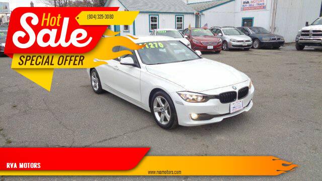 2014 BMW 3 Series for sale at RVA MOTORS in Richmond VA