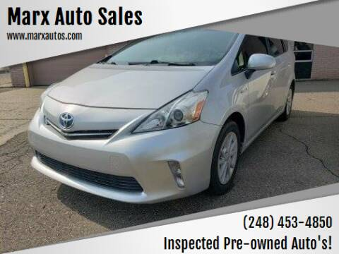 2012 Toyota Prius v for sale at Marx Auto Sales in Livonia MI