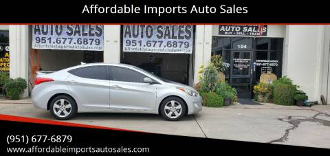 2013 Hyundai Elantra for sale at Affordable Imports Auto Sales in Murrieta CA