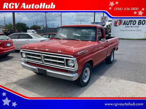 1971 Ford F-100 for sale at RGV AutoHub in Harlingen TX
