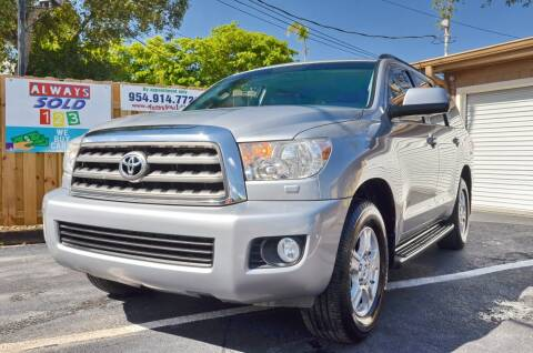 2016 Toyota Sequoia for sale at ALWAYSSOLD123 INC in Fort Lauderdale FL