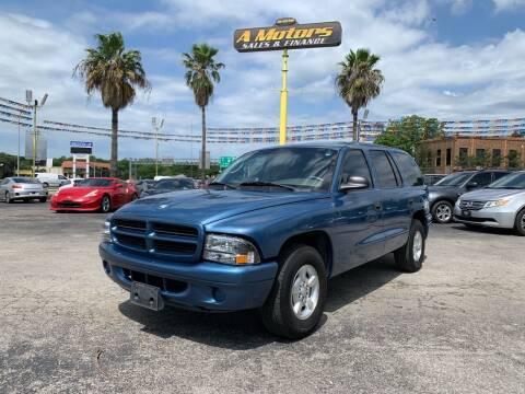 2002 Dodge Durango for sale at A MOTORS SALES AND FINANCE in San Antonio TX