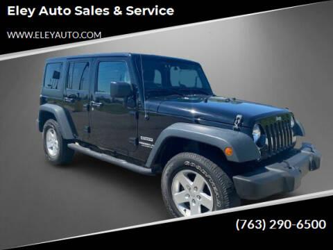 2017 Jeep Wrangler Unlimited for sale at Eley Auto Sales & Service in Loretto MN