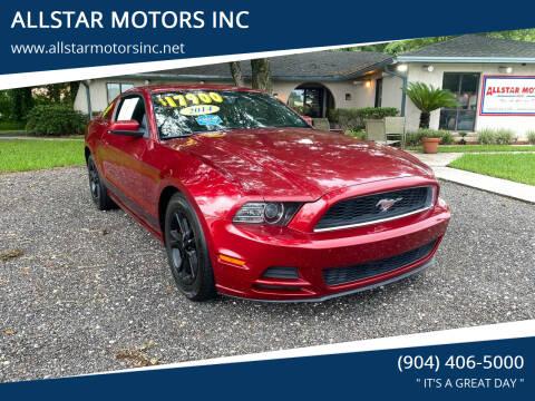 2014 Ford Mustang for sale at ALLSTAR MOTORS INC in Middleburg FL
