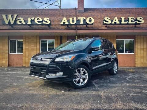 2013 Ford Escape for sale at Wares Auto Sales INC in Traverse City MI