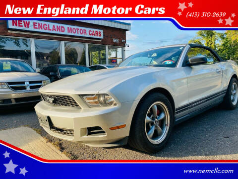 2010 Ford Mustang for sale at New England Motor Cars in Springfield MA