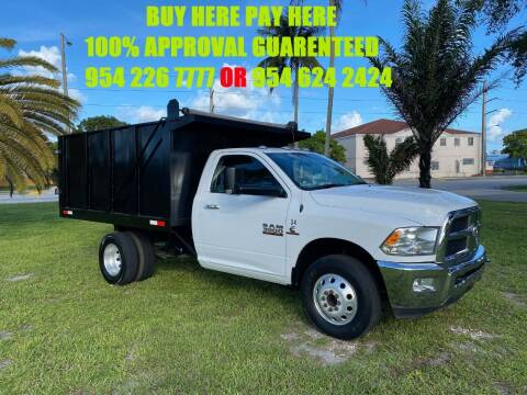 2017 RAM 3500 DUMP for sale at Transcontinental Car USA Corp in Fort Lauderdale FL