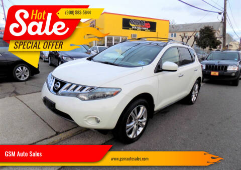 2010 Nissan Murano for sale at GSM Auto Sales in Linden NJ