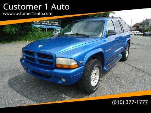1998 Dodge Durango for sale at Customer 1 Auto in Lehighton PA