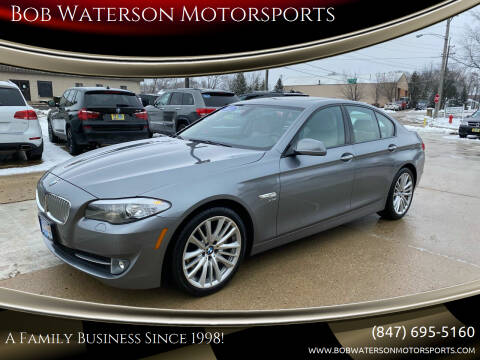 2011 BMW 5 Series for sale at Bob Waterson Motorsports in South Elgin IL