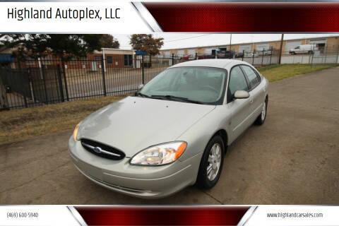2003 Ford Taurus for sale at Highland Autoplex, LLC in Dallas TX