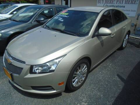 2013 Chevrolet Cruze for sale at River City Auto Sales in Cottage Hills IL