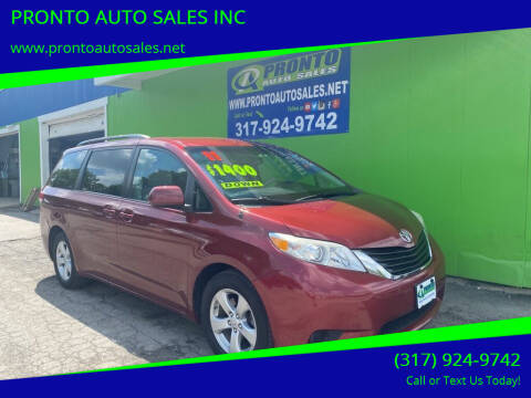 2011 Toyota Sienna for sale at PRONTO AUTO SALES INC in Indianapolis IN