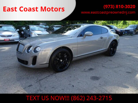 2010 Bentley Continental for sale at East Coast Motors in Lake Hopatcong NJ