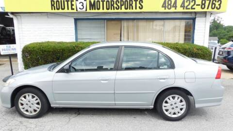 2005 Honda Civic for sale at Route 3 Motors in Broomall PA