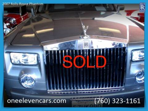 2007 Rolls-Royce Phantom for sale at One Eleven Vintage Cars in Palm Springs CA