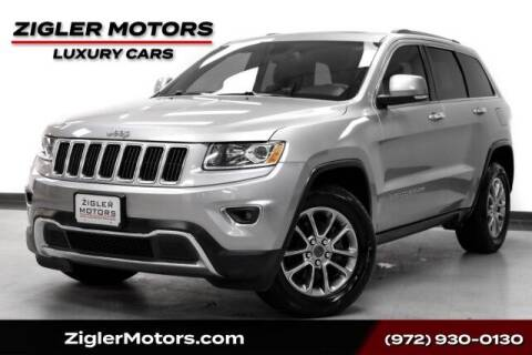 2014 Jeep Grand Cherokee for sale at Zigler Motors in Addison TX