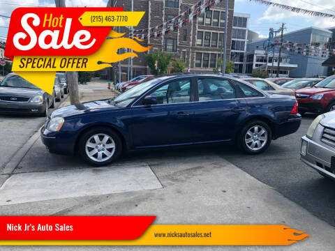 2007 Ford Five Hundred for sale at Nick Jr's Auto Sales in Philadelphia PA