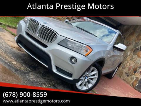 2013 BMW X3 for sale at Atlanta Prestige Motors in Decatur GA