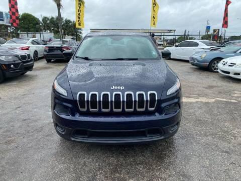 2015 Jeep Cherokee for sale at America Auto Wholesale Inc in Miami FL