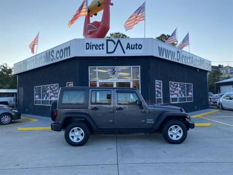 2017 Jeep Wrangler Unlimited for sale at Direct Auto in D'Iberville MS