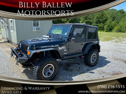 2004 Jeep Wrangler for sale at Billy Ballew Motorsports in Dawsonville GA