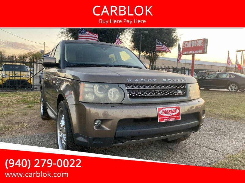 2010 Land Rover Range Rover Sport for sale at CARBLOK in Lewisville TX