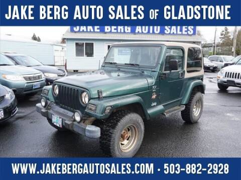 2000 Jeep Wrangler for sale at Jake Berg Auto Sales in Gladstone OR