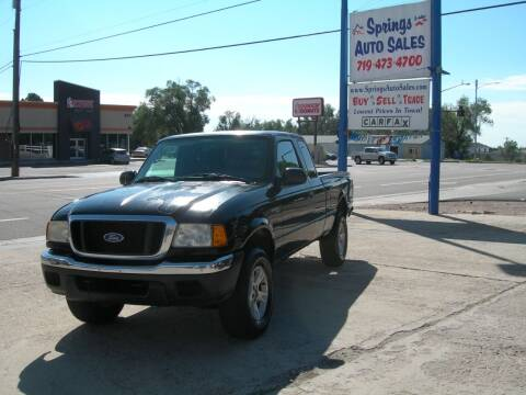 2004 Ford Ranger for sale at Springs Auto Sales in Colorado Springs CO